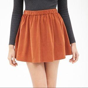 Forever 21 Contemporary Flared Corduroy Skirt